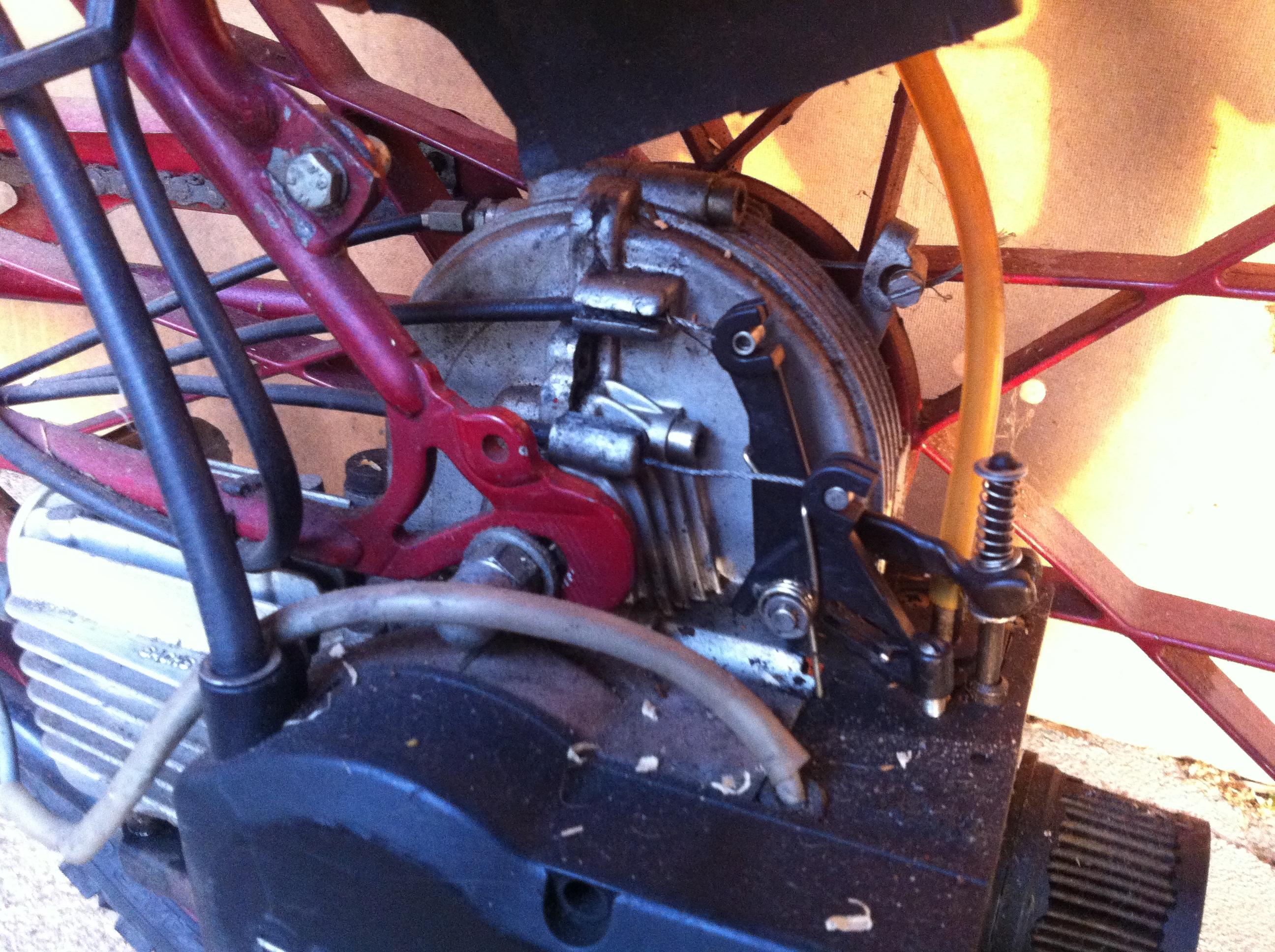 Saxonette Motor verlebt
